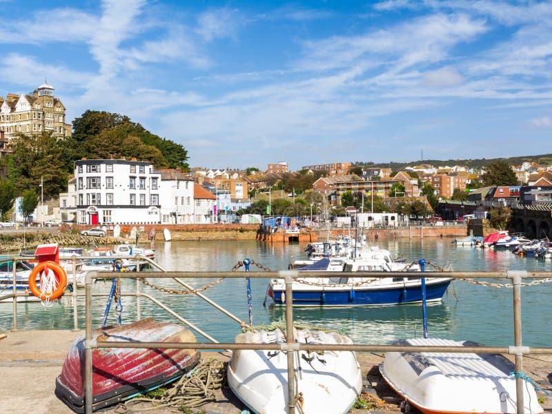 Folkstone Hafen stockfoto