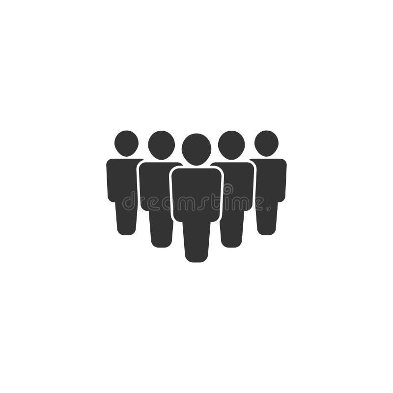 Folksymbol i enkel design också vektor för coreldrawillustration royaltyfri illustrationer