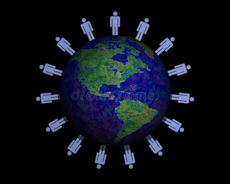 folkvärld vektor illustrationer