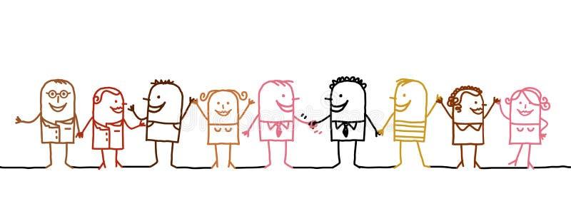 folkvärld stock illustrationer