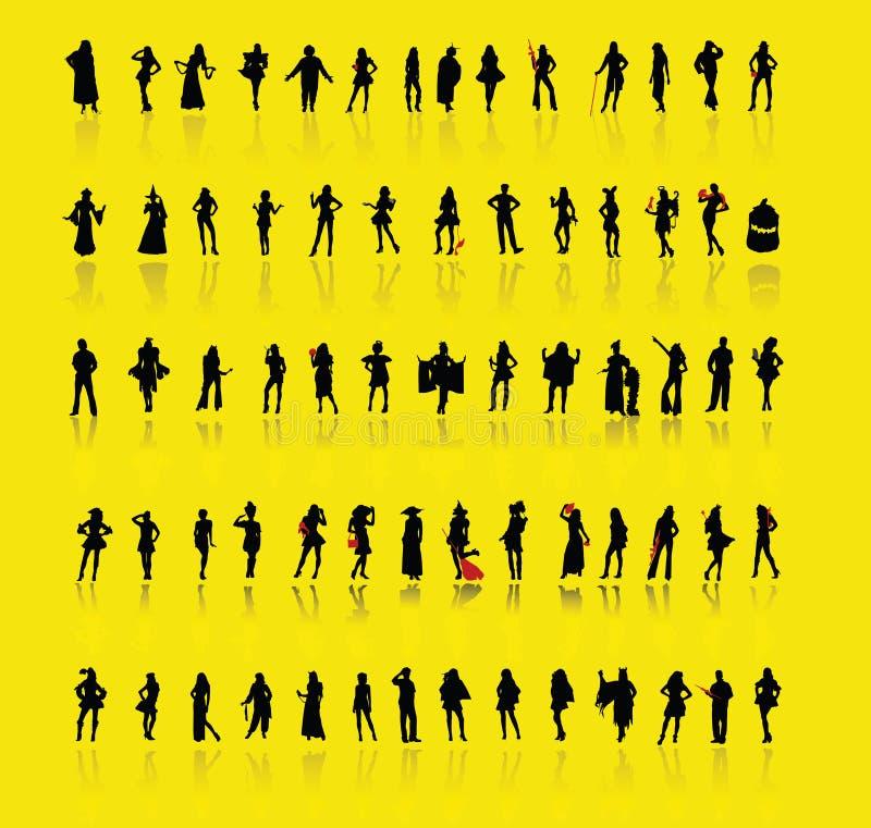 folkvektor vektor illustrationer