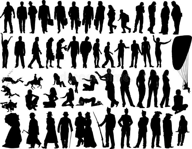 folkvektor royaltyfri illustrationer