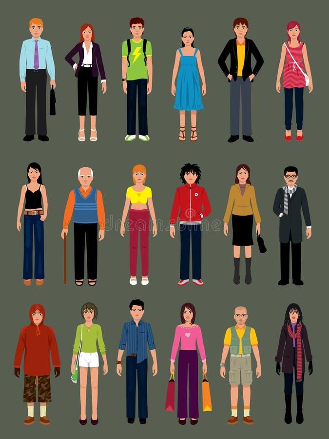 folkvektorer vektor illustrationer