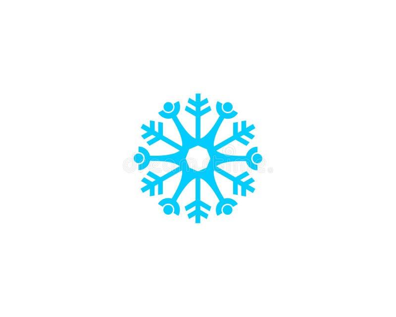 Folkvektorsymbol, knapp för rund rengöringsduk för snödesign blå vektor illustrationer