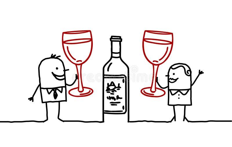 folkwine stock illustrationer