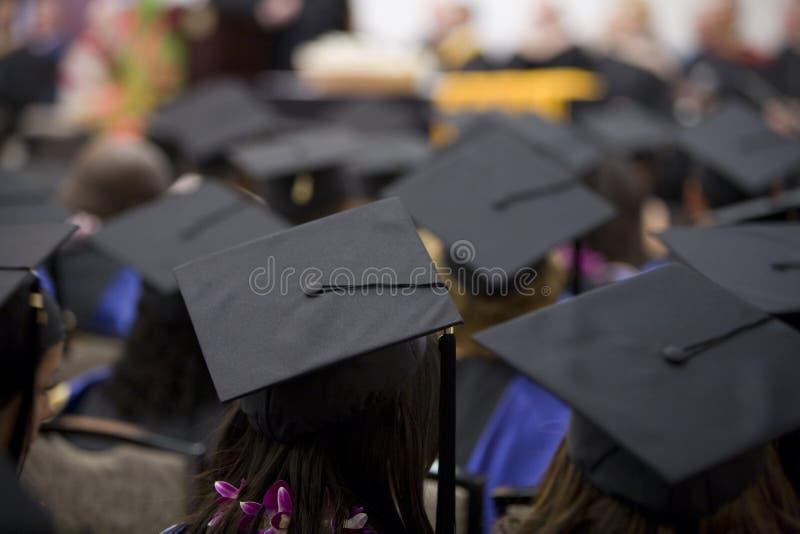 Folla 1 di graduazione immagine stock