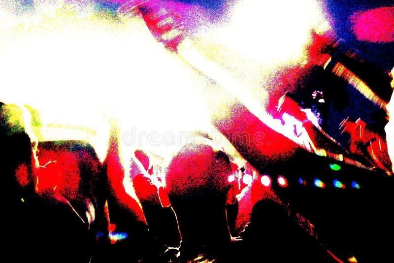 Folla ad un concerto rock fotografia stock libera da diritti