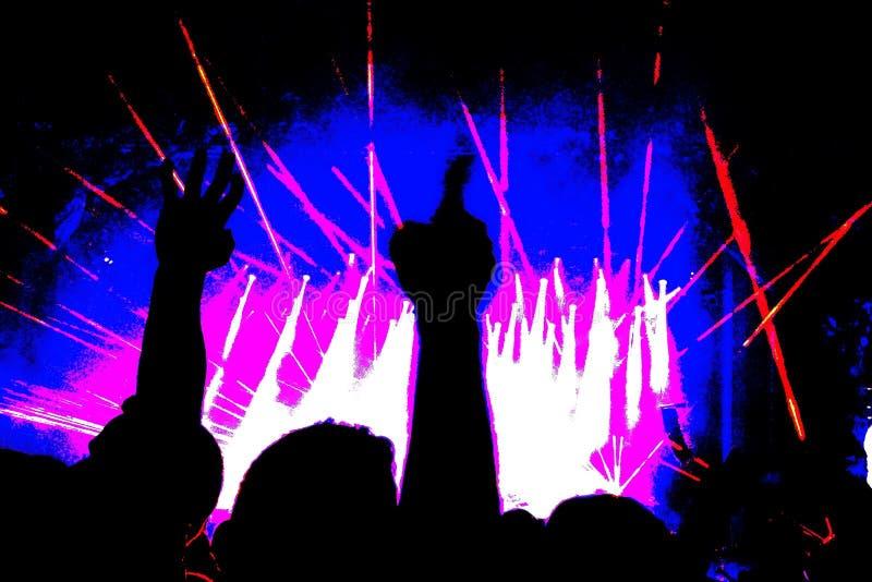 Folla ad un concerto rock immagini stock