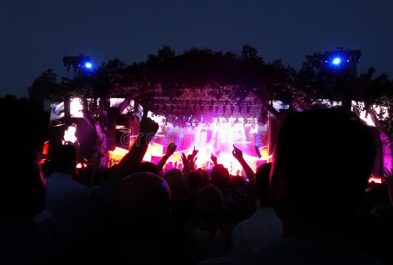 Folla ad un concerto rock fotografie stock
