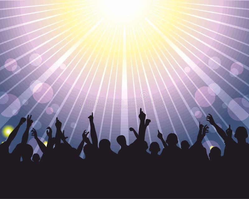 Folla al concerto illustrazione di stock