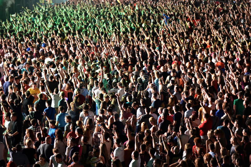 Folla al concerto fotografie stock