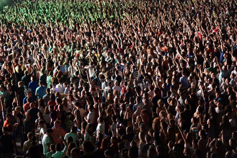 Folla al concerto immagine stock libera da diritti