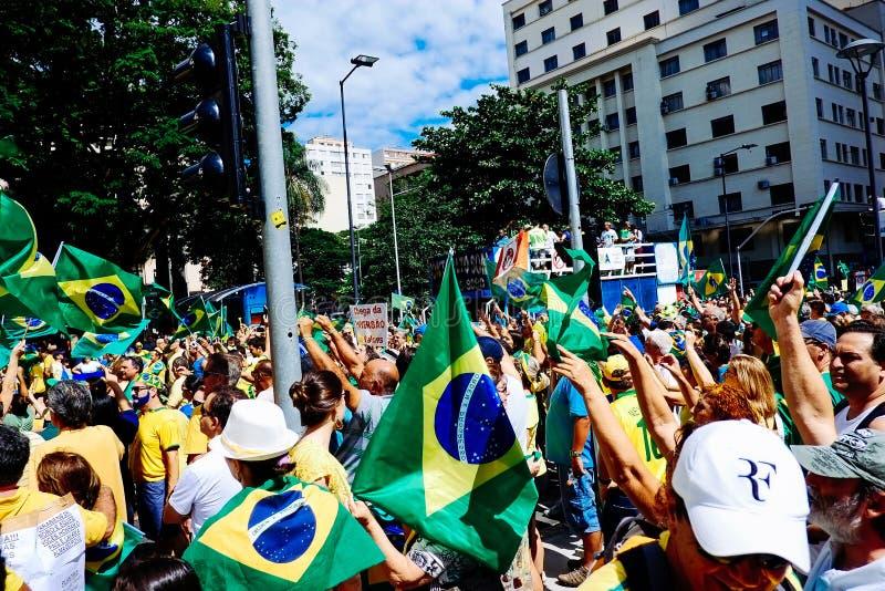 Folla brasiliana immagine stock