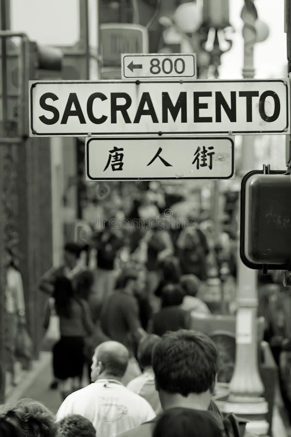 Folla del Chinatown fotografia stock libera da diritti