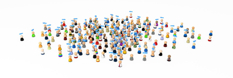 Folla del fumetto, possedere i sensi illustrazione di stock