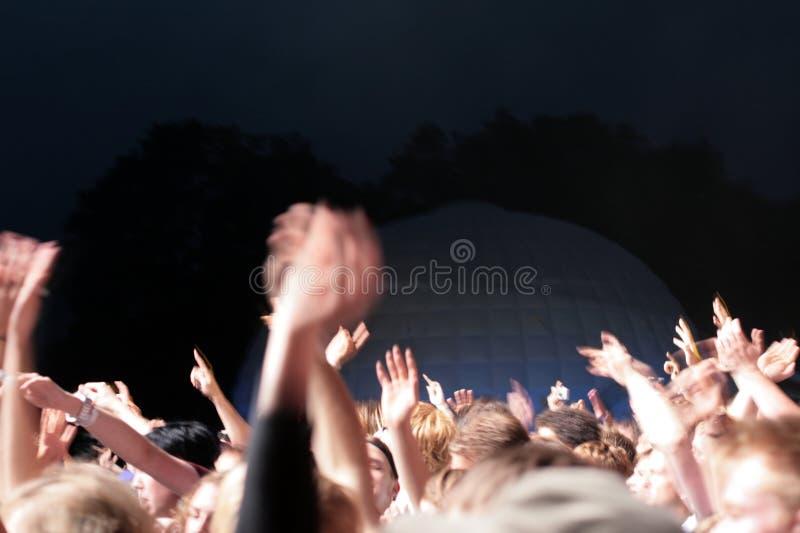 Folla del partito fotografia stock libera da diritti