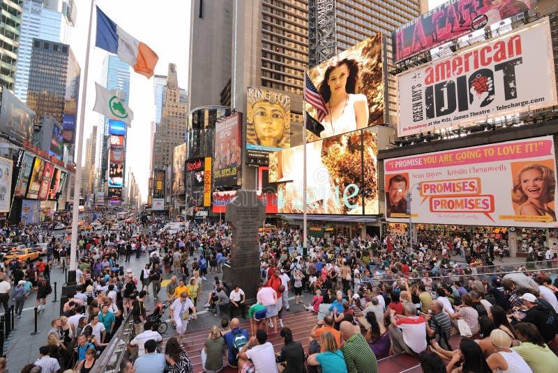 Folla del Times Square immagini stock libere da diritti