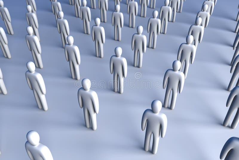 Folla dell'icona illustrazione vettoriale