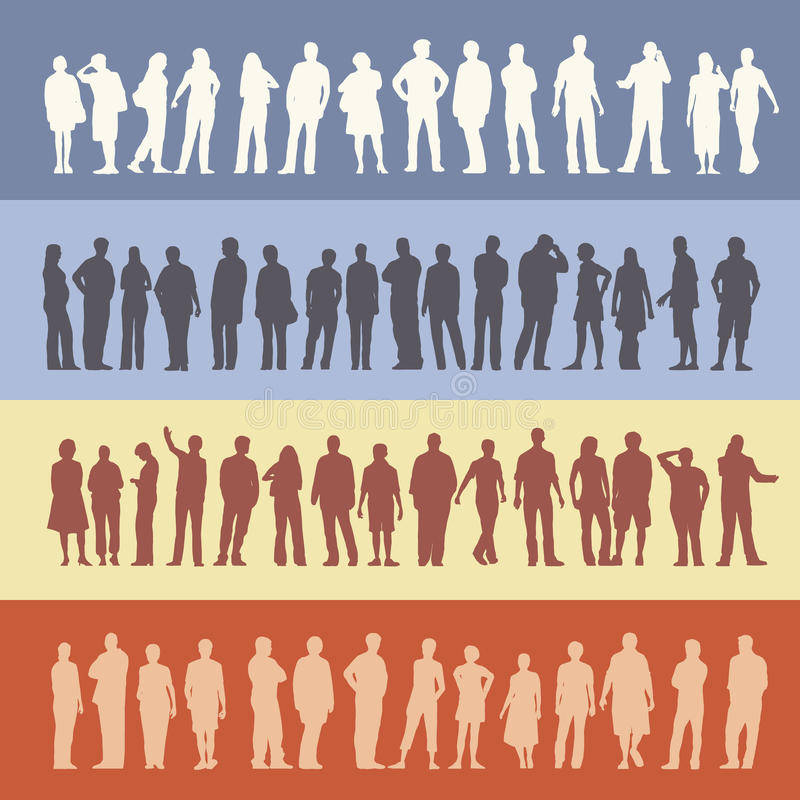 Folla della gente illustrazione vettoriale