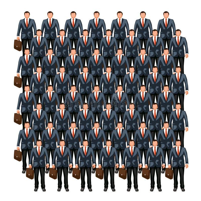 Folla 7 di affari illustrazione di stock