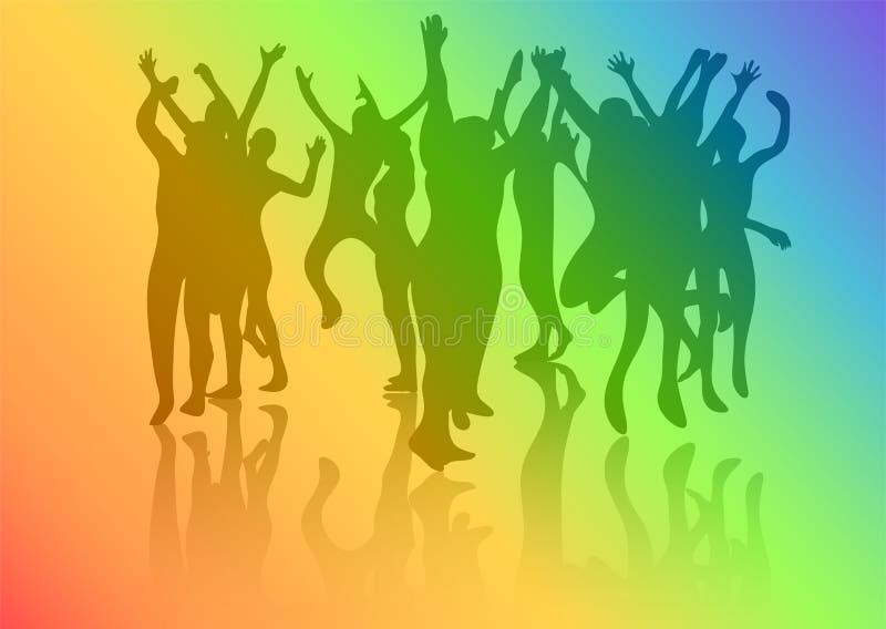 Folla di ballo illustrazione vettoriale