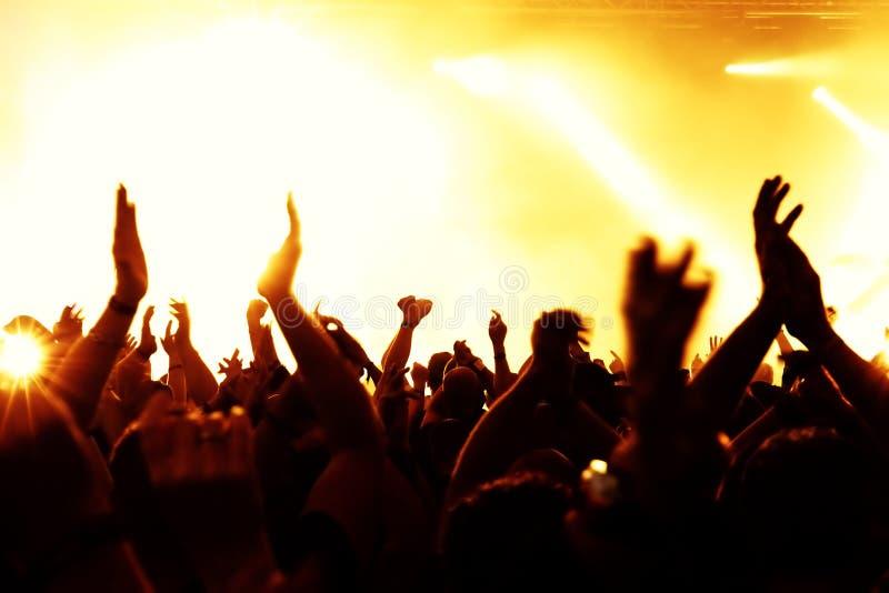 Folla di concerto immagine stock
