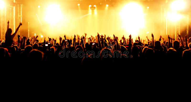 Folla di concerto immagini stock libere da diritti