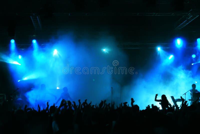 Folla di concerto fotografia stock libera da diritti