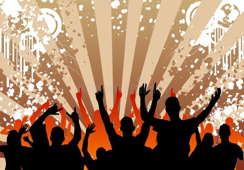 Folla di Grunge royalty illustrazione gratis