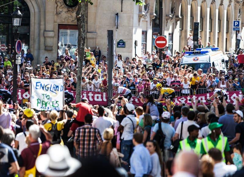 Folla di Tour de France di Le fotografia stock