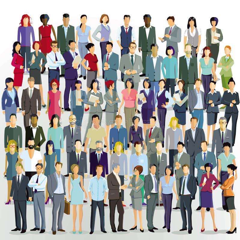 Folla nella comunit?, nei colleghe e negli amici royalty illustrazione gratis