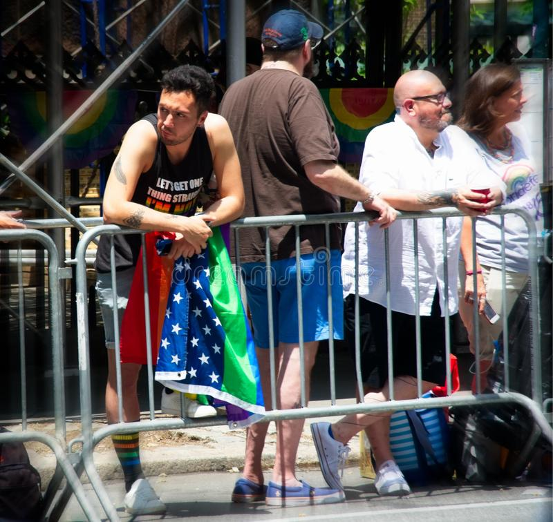 Folla a New York 2018 Pride Parade fotografie stock