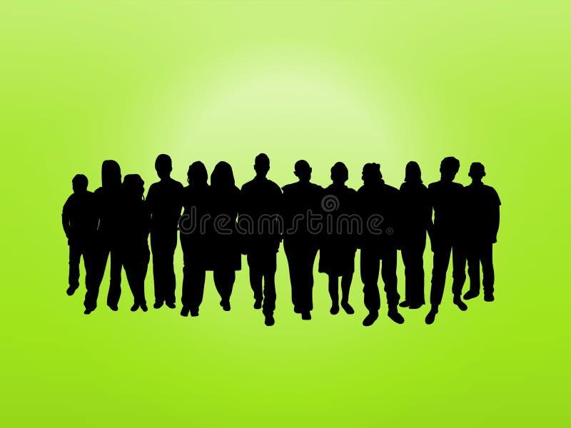 Folla su verde royalty illustrazione gratis