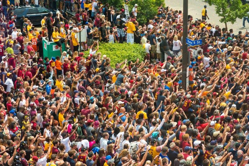 Folla trionfante immagine stock libera da diritti