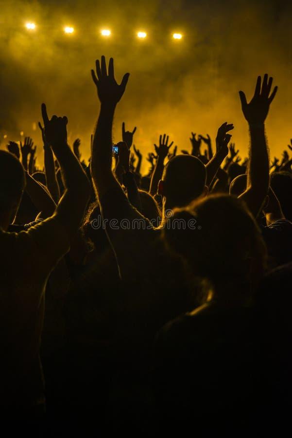 Folla in un concerto fotografia stock libera da diritti