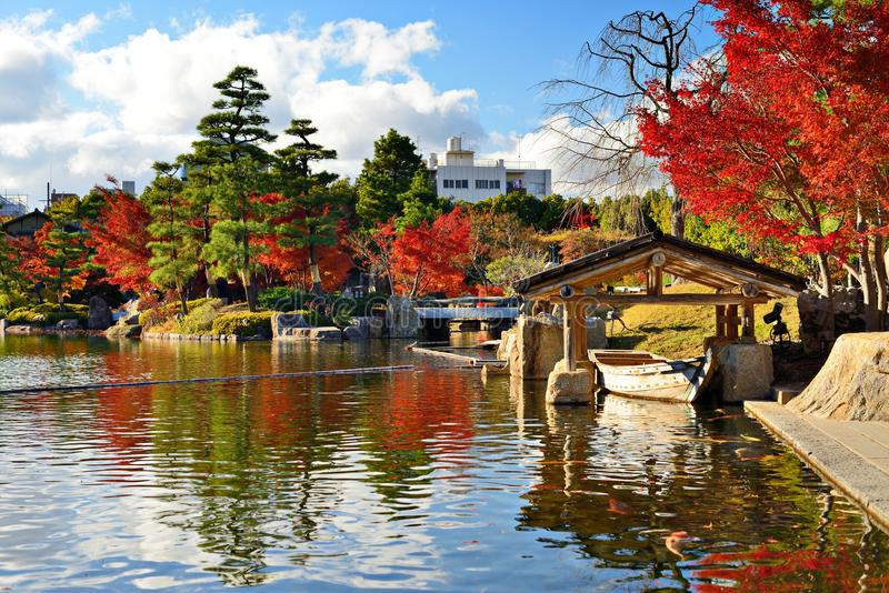 Follaje de otoño en Nagoya, Japón imagen de archivo