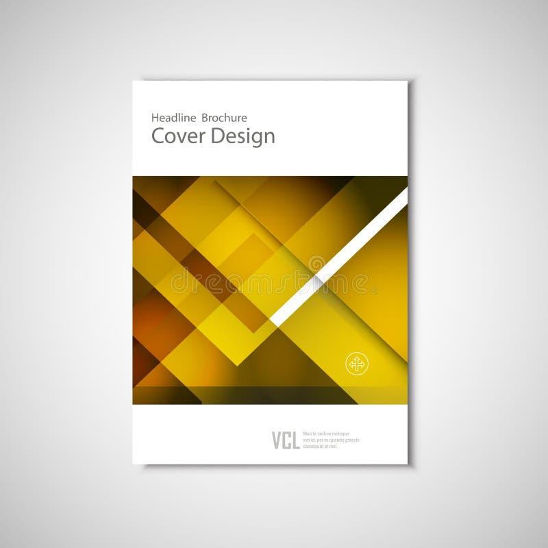 Folleto abstracto de los aviadores del vector, informe anual, plantillas modernas Diseño para las presentaciones del negocio libre illustration