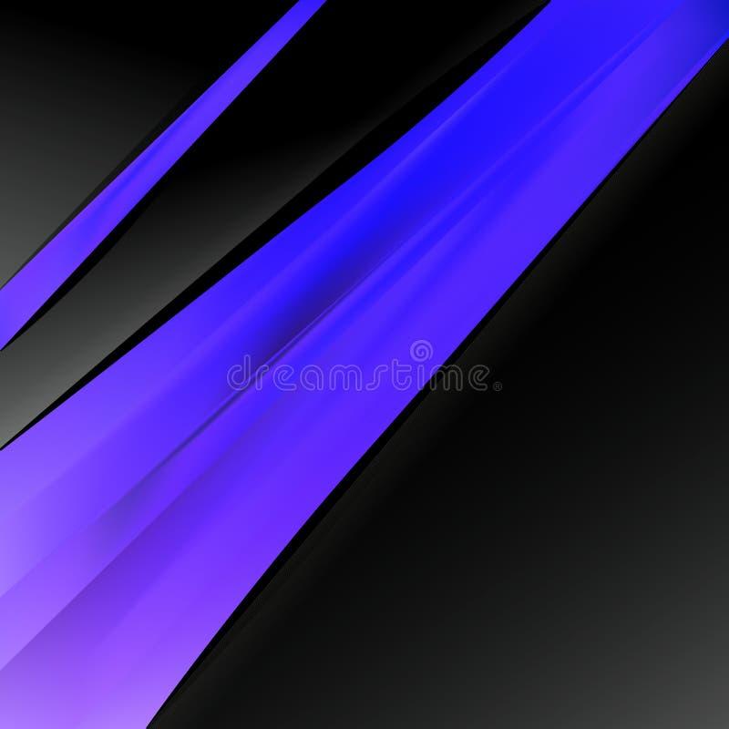 Folleto azul y púrpura negro del negocio libre illustration