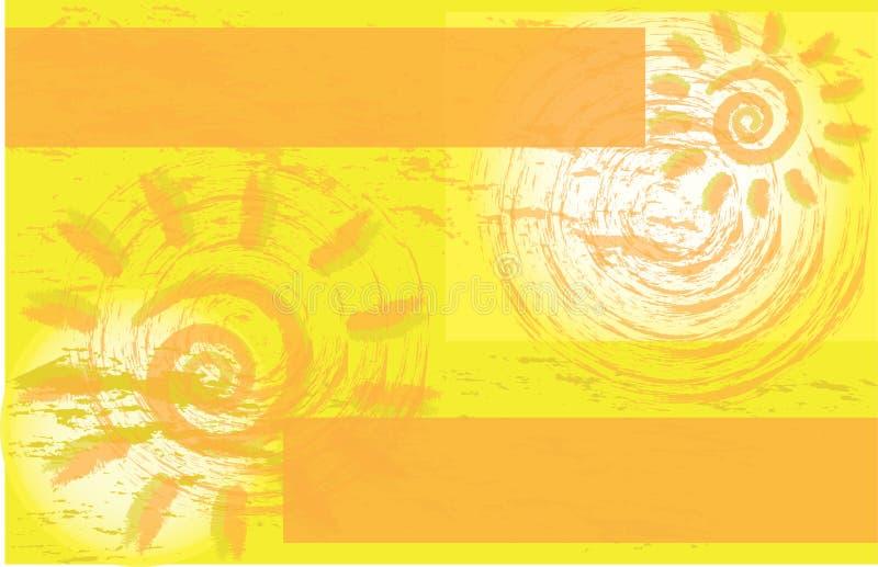 Folleto corporativo amarillo del aviador del evento de Sun stock de ilustración