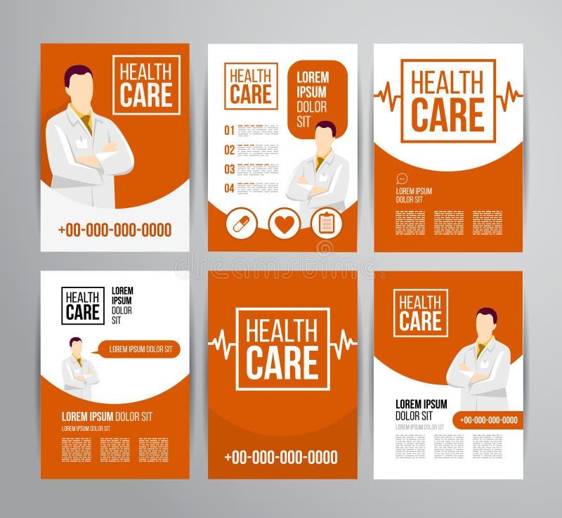 Folleto de la atención sanitaria libre illustration