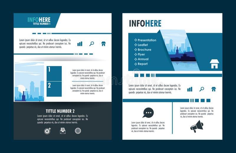 Folleto de la ciudad infographic stock de ilustración