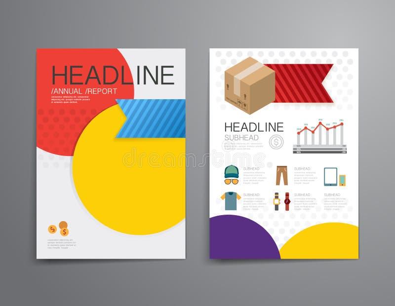 Folleto de las compras del negocio, aviador, templat del diseño de la portada de revista libre illustration