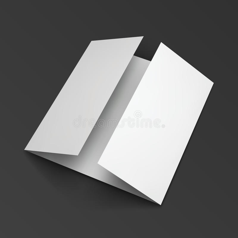 Folleto de papel triple en blanco ilustración del vector
