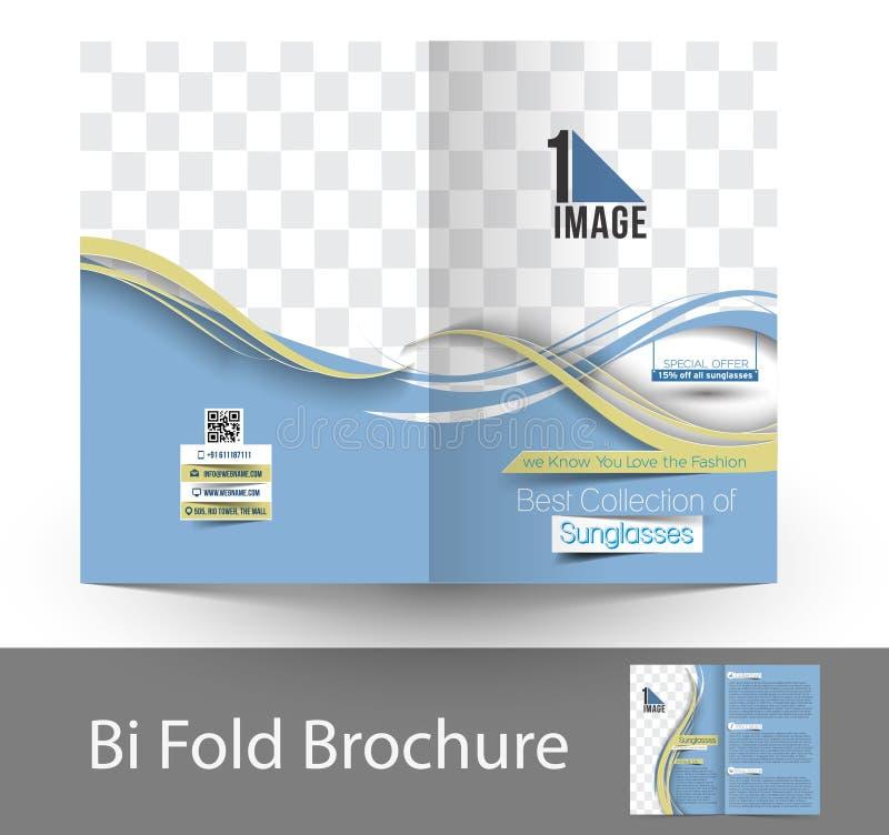 Folleto de Sunglasses Store Bi-Fold del óptico libre illustration