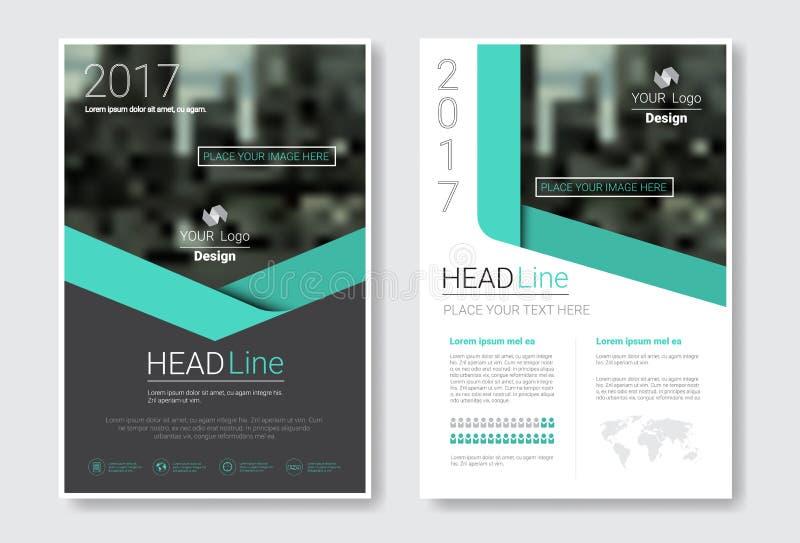 Folleto del diseño de la plantilla, informe anual, revista, cartel, presentación corporativa, cartera, aviador con el espacio de  ilustración del vector