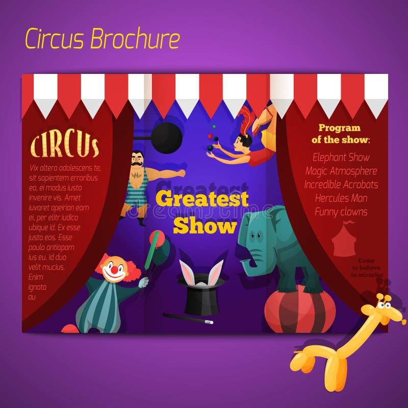 Folleto del funcionamiento del circo libre illustration
