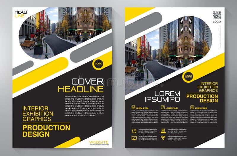 Folleto del negocio Diseño del aviador Plantilla de los prospectos a4 Abucheo de la cubierta libre illustration