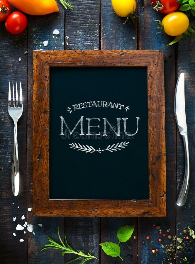 Folleto del restaurante del menú del café Plantilla del diseño de la comida imagenes de archivo