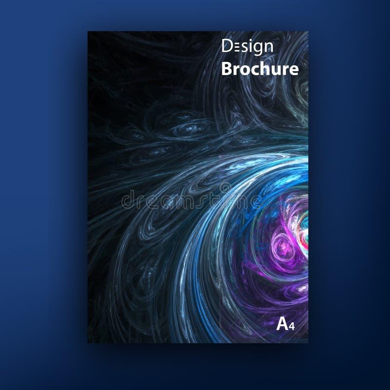 Folleto del vector - plantillas del diseño de la cubierta del folleto ilustración del vector