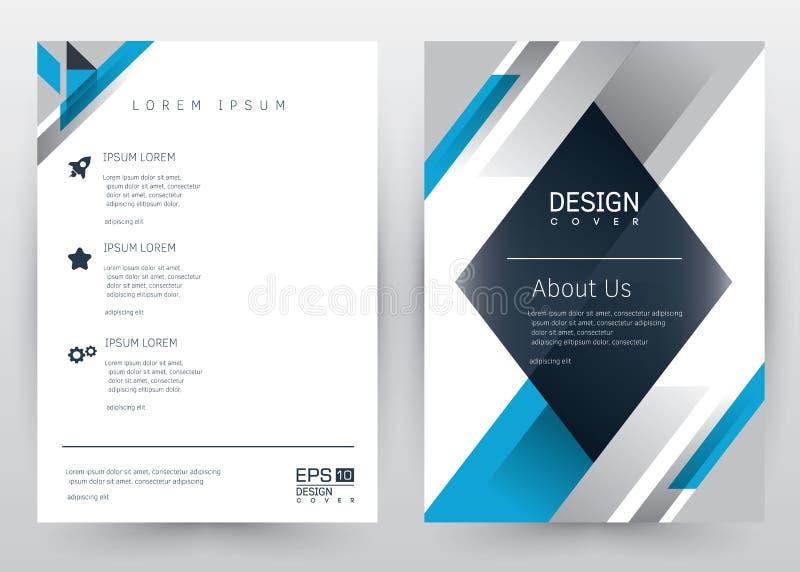 Folleto determinado de la plantilla del vector del diseño de la cubierta, informe anual, revista, cartel, presentación corporativ ilustración del vector